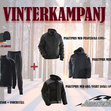 VINTERKAMPANJ: vinterjacka + underställ + jacka + mössa